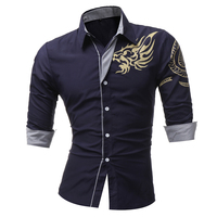 2016 Spring New Men S Long Sleeved Dress Shirt European Dragons Men S Casual Slim Lapel