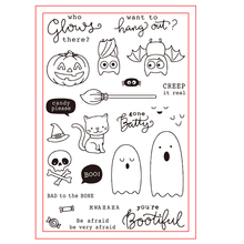цена на Batty Halloween Transparent Clear Silicone Rubber Stamps Set For DIY Scrapbooking Photo Album Cards Making Decor Dies Cut New