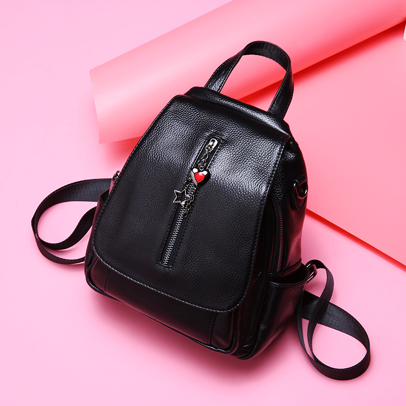 2019 New Fashion Women Backpack Genuine Leather Ladies Backpacks Small Preppy Style School Backpack For Girls Travel Day Pack-in Backpacks from Luggage & Bags    1