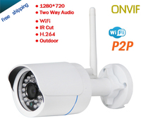 1 0MP IP Camera HD 1280 720 Network Security CCTV Outdoor Camera With Onvif Ip66