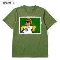 Um amor um coração projeto dos desenhos animados da música reggae moda tamanho das mulheres dos homens de alta qualidade camiseta de algodão