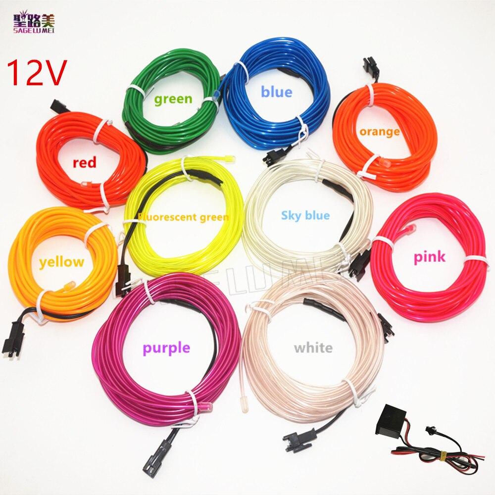 EL Draht 2,3mm runde Neon auto Lichter Dance Decor licht Flexible EL ...
