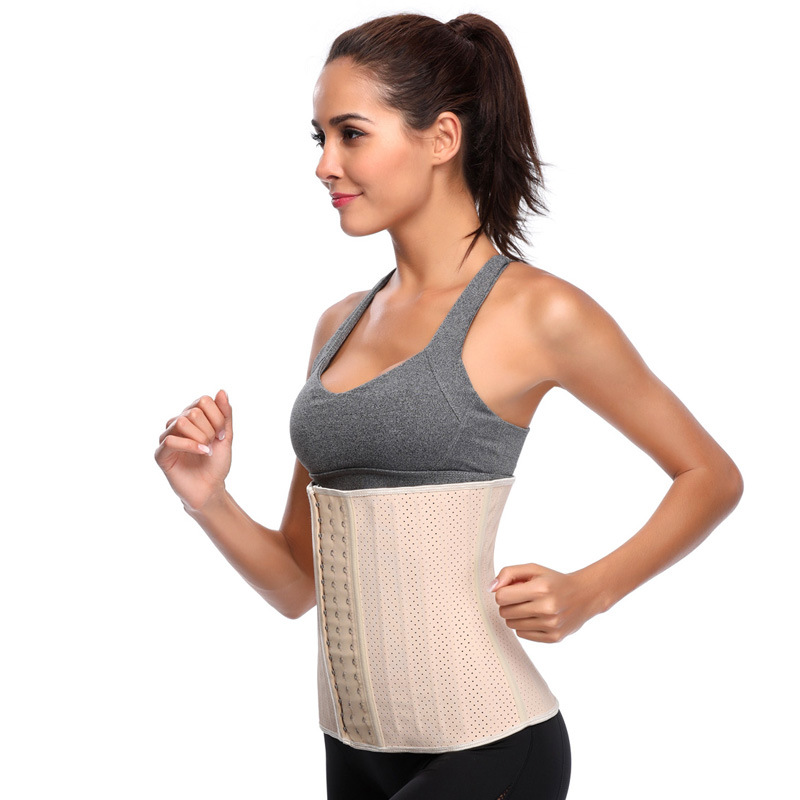 Hot Latex Rubber Shaping Waist Trainer Cincher Corset Shaper Tummy Belly Loss S2