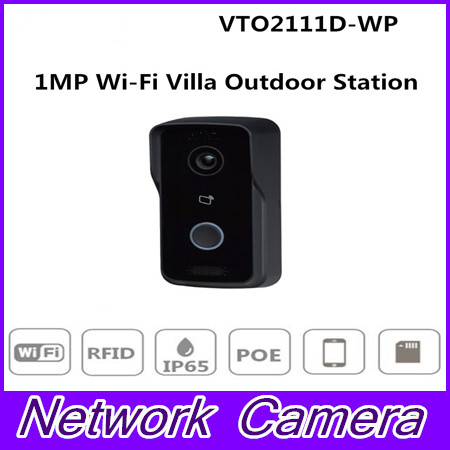 Original 1MP WiFi Video Intercom Doorbell Villa Outdoor Station Without Logo VTO2111D-WP megapixel Night vision Voice indication free shipping dahua door intercom ip villa outdoor station ip54 ik07 night vision without logo vto2000a