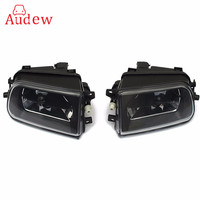 2x Clear Bumper Fog Lamps Front Driving Lights For BMW E39 528i 540i Z3 1997 1998