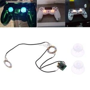 Image 3 - Manchons de pouce analogiques manettes de Joystick lumière LED bricolage pour PS4 Platstation 4 manette