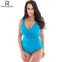 Polka Dot Print One Piece Swimwear Plus Size Swimsuit Retro Vintage Sexy Bathing Suit Women Push