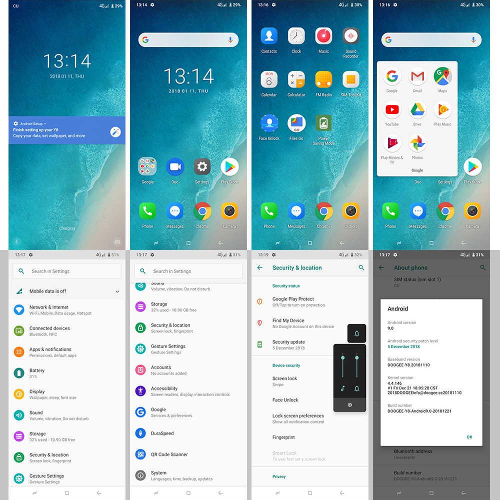 DOOGEE Y8 Android 9.0 FDD LTE 6.1 cala 19:9 ekran dotykowy LTPS Smartphone MTK6739 3GB RAM 16GB ROM 3400mAh Dual SIM 8.0MP