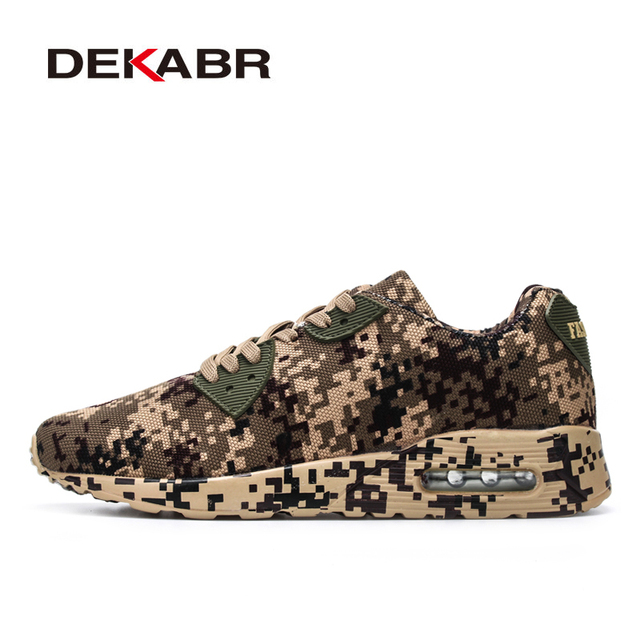 DEKABR Camouflage Style Running Shoes Unisex Outdoor Sport Shoes Breathable Women's Sneakers Men Athletic Jogging Shoes