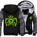 USA size Men Women Anime NARUTO Akatsuki Cosplay Green Luminous Jacket Sweatshirts Thicken Hoodie Coat