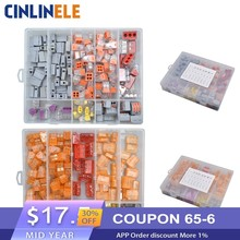 144 Pieces WAGO Connector Set Beautiful Box Models Wire Wiring Conductor Terminals Block 4 Room House Electrician Decoration