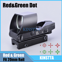 Tactical Hunting Airsoft Riflescopes 4 Style Reticle Red Green Dot Sight Scope Fit 20mm Picatinny Mount