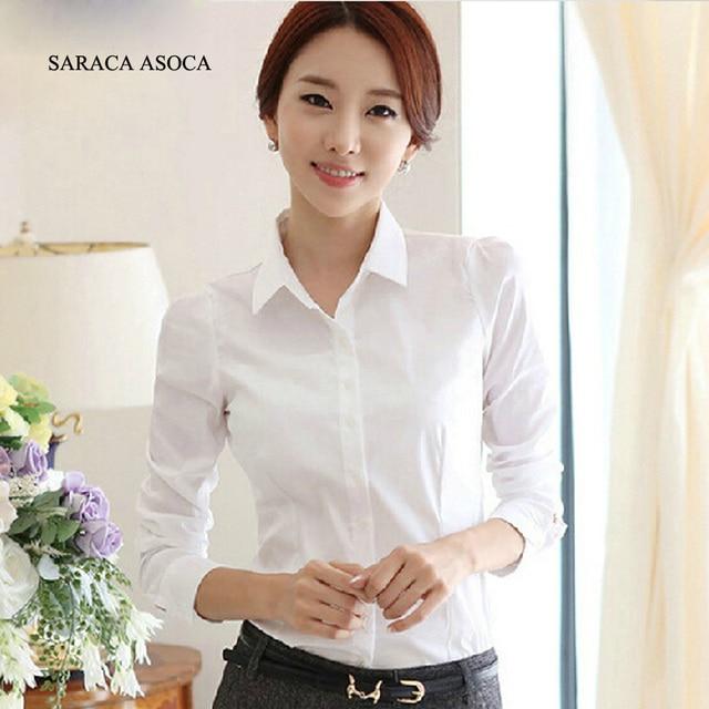 Aliexpress.com : Buy Spring Autumn Women's White Formal Long ...