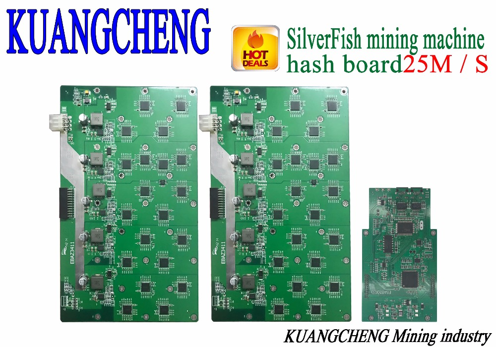 Free Shipping SilverFish Hash Board 25M Litecoin Miner Scrypt Miner The 420w Better Than ASIC Miner Zeus 25M Litecoin