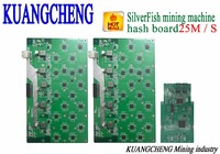 Free Shipping SilverFish Hash Board 25M Litecoin Miner Scrypt Miner The 420w Better Than ASIC Miner