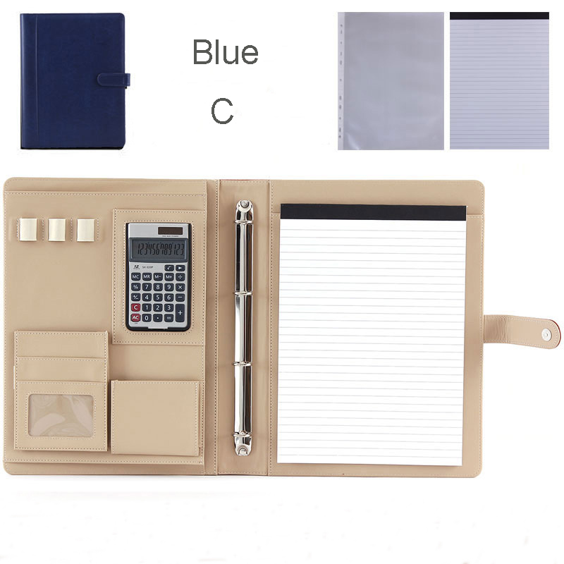 multifuction faux leather file folder A4 organizer for office bag folder with ring binder filing products office supplies 1200E