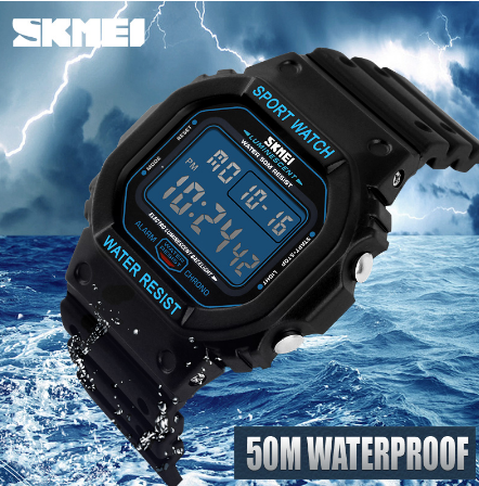 Skmei marque montres hommes militaire LED numérique plongée montre pour hommes 50 M mode Sport en plein air montre pour homme - 5