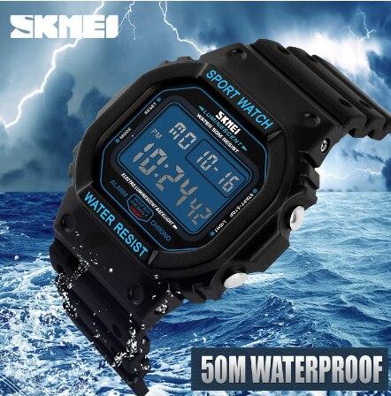 Skmei orologi di marca Da Uomo Militare LED Digital Diving Vigilanza degli uomini 50 M di Modo di Sport Outdoor Orologio Da Polso Da uomo Orologio - 5