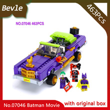 Bevle Store LEPIN 07046 433Pcs with original box movie series Low chassis car Building Blocks Bricks For Children Toys 70906