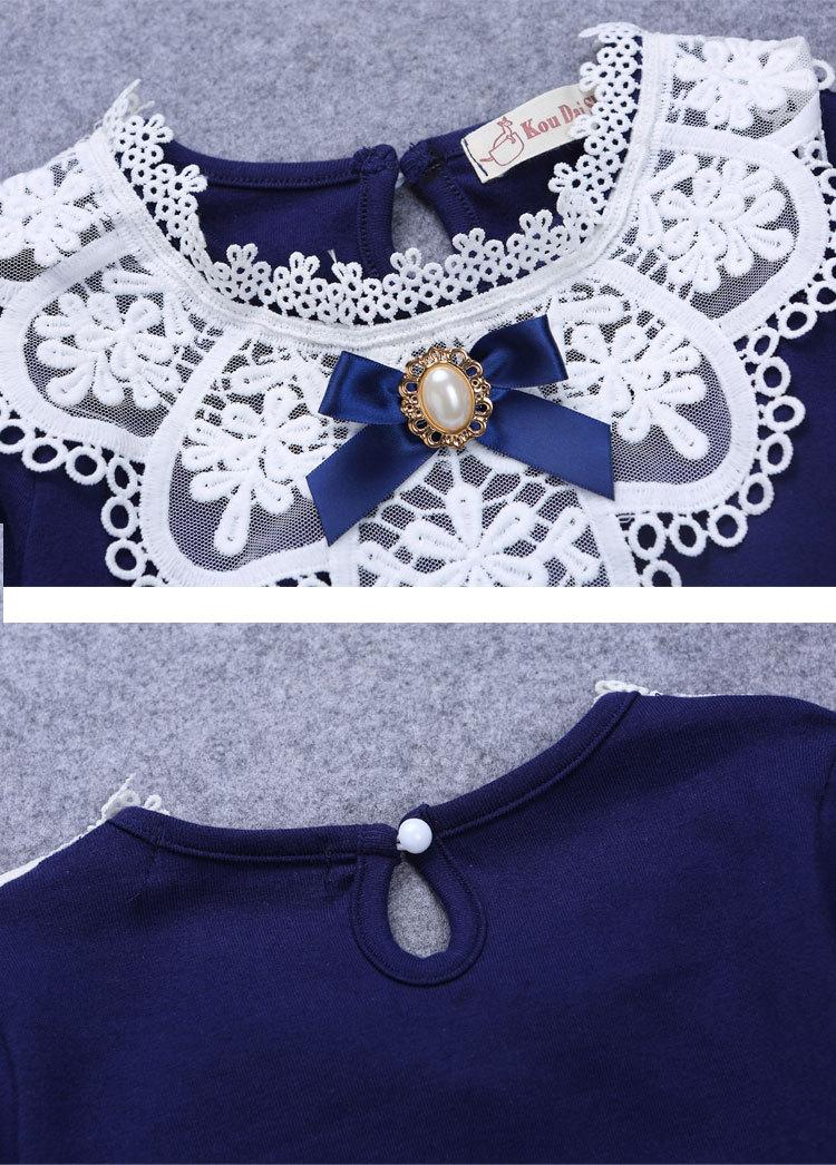 2017 tavaszi lányok blúz ingek divat új márka baba lány ruházat - Gyermekruházat - Fénykép 6