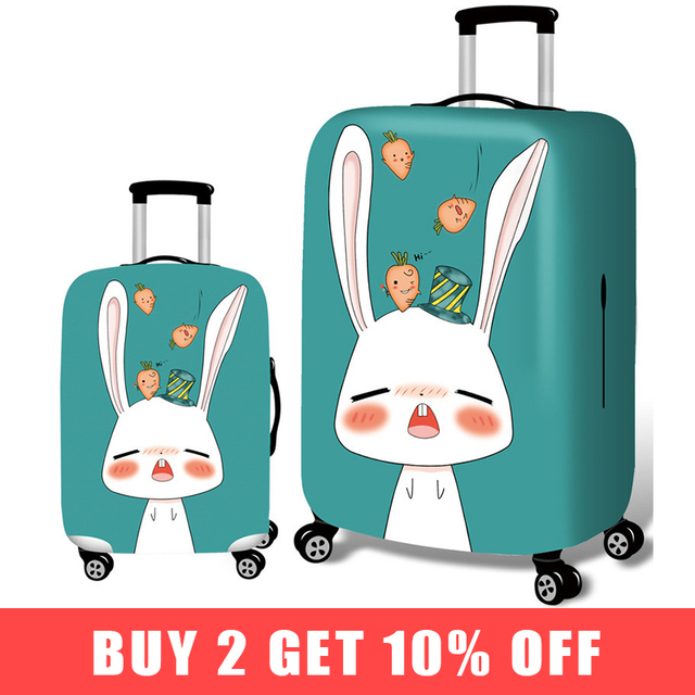 Travel Cartoon Suitcase Cover For Child Stretch Fabric