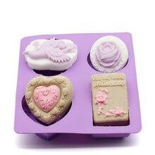 DIY handmade soap mold Angel Rose Love