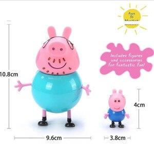 Image 5 - Figuras de acción originales de Peppa pig y George, juguetes de dibujos animados para niños, regalo de cumpleaños