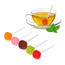 1 Pcs Cute Lollipop Shape Tea Infuser Silicone Puer Tea Strainer Loose-Leaf Spice Flower Herbal Tea Filter Funny Gift Tea-Tools(China)