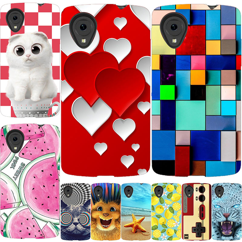 For Coque LG Nexus 5 Case Cover Flowers Scenery Hard PC Phone Cases For LG Google Nexus 5 D820 D821 E980 Back Cover For LG E980