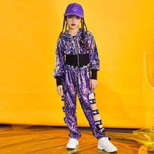 2cdfbc79b Children's street dance clothes women loose Korean students hiphop suit hip  hop sports jazz dance costume