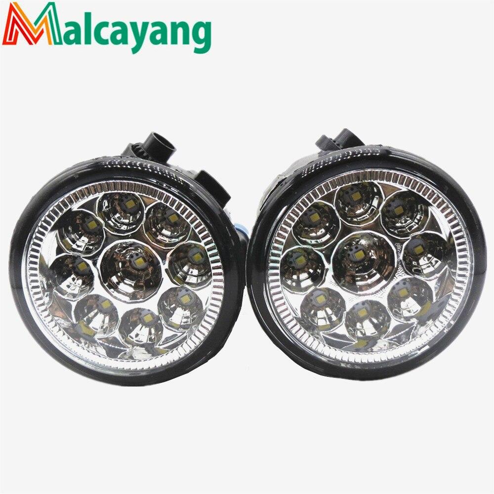 1 SET (Left + right) Car Styling Front LED Fog Lamps Fog Lights 26150-8990B For NISSAN Tiida Saloon SC11X 2006-2012 for nissan almera 2 ii hatchback saloon n16 2001 2006 fog lamps drl front lights led 261508990a 4419375 3000 10000k