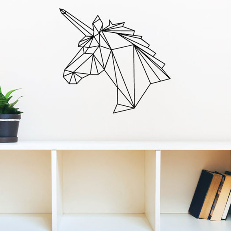 aliexpress com buy geometric unicorn wall decal vinyl aliexpress com buy bathroom wall stickers pvc mosaic