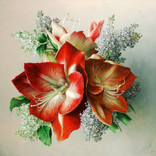 DIY diamond painting red flowers full embroidery flower rhinestones mosaic home decor