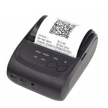 ZJIANG Wireless Android Bluetooth Thermal Printer 58Mm Mini Bluetooth Thermal Receipt Printer - Bluetooth Android Us Plug(China)