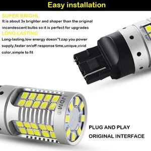 Image 4 - 2 sztuk błąd Canbus darmo 21W 55 SMD 3030 7440 7444 T20 W21W zapasowe żarówki LED na Euro samochód dodatkowe światła cofania, samochód led