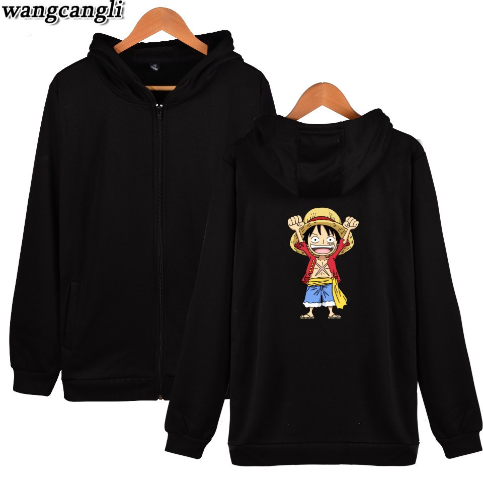 2019 Fashion One Piece Monkey D Luffy Fashion Hoodies Anime New Arrival Cotton Hoodie Sweatshirt Harajuku Hip Hop Jacket Moleton Masculino High Quality And Inexpensive Men's Clothing