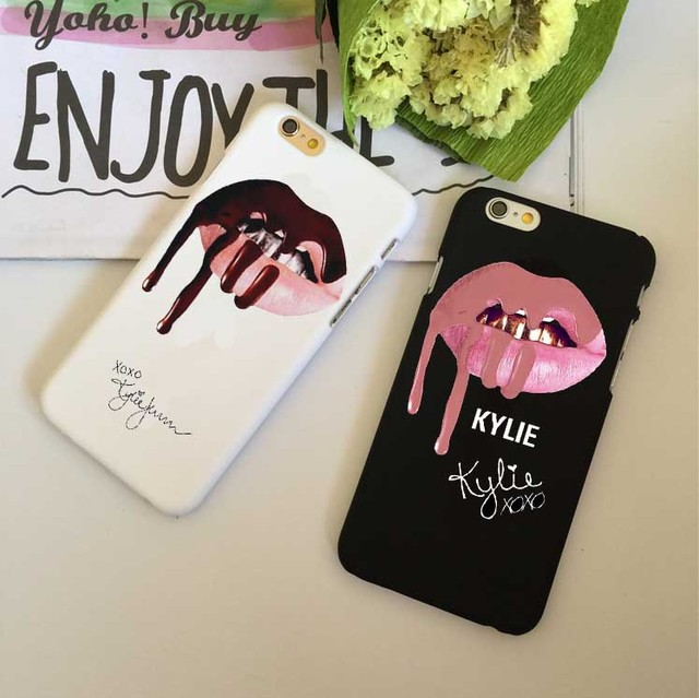 Phone Cases Sexy Girl Kylie Jenner Pink Lips Kiss Phone Cases For iPhone XS XS MAX SE  6S 6Plus 7 7Plus 8 8Plus X  Phone Cover