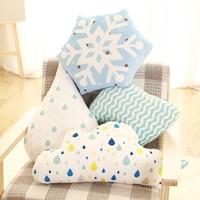 Nordic Chmury/Pioruna/Snowflake Siedzenia/Poduszka Miękkie Cartoon Raindrops Kids Room Dekoracyjne Poduszki Snu Poduszki Dla Dzieci