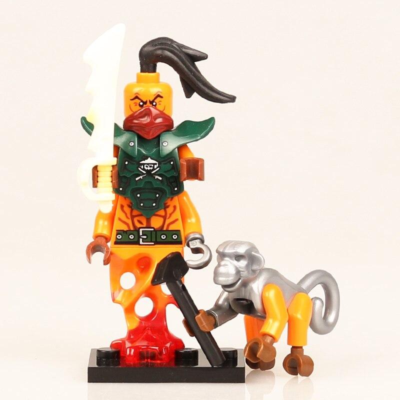 Individual Figure NinjagoINGly Khan-Spirt Shipmaster Nya Zane Lloyd Giant Stone Warrior Tournament Zane Action Toys For Children