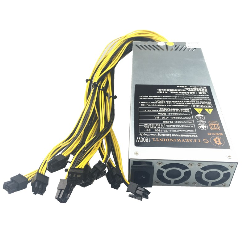 1800W PSU <font><b>Antminer</b></font> <font><b>Bitmain</b></font> 1800w Power Supply 6PIN <font><b>Antminer</b></font> T9 ETH PSU <font><b>antminer</b></font> S9 <font><b>S7</b></font> L3 BTC LTC DASH 1800W miner power supply image