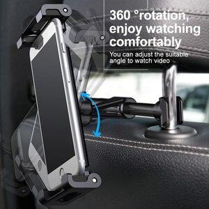 Image 3 - Baseus Car Back Seat Headrest Mount Holder For iPhone X Samsung iPad 360 Degree Bracket Car Backseat Tablet Mobile Phone Holder