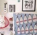 Детское Одеяло Хлопка легкие Мягкие Детские Трикотажные Пеленать Одеяло Диван-Кровать стиль бутылки молока