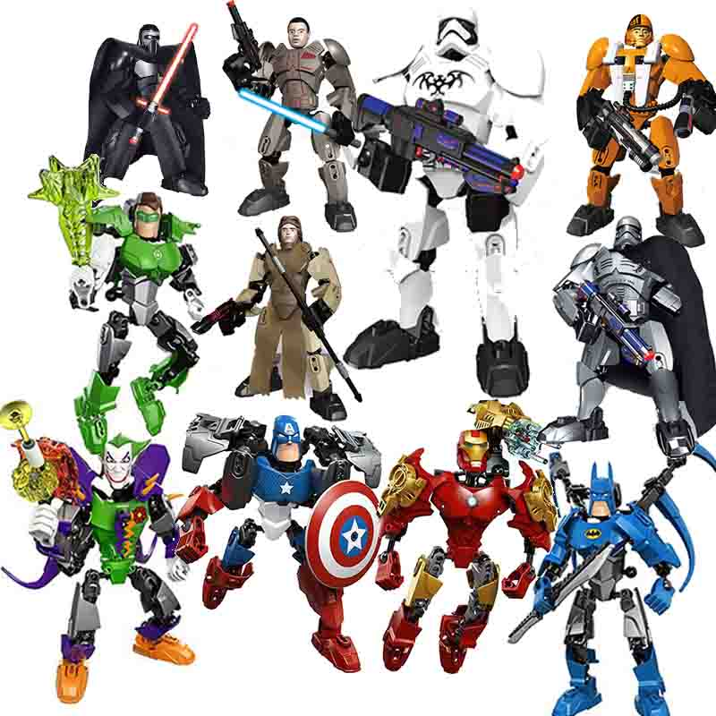 Marvel Avenger Star Wars Solo Han Maul Chewbacca Darth White Storm Trooper General Grievous Figure toys building block
