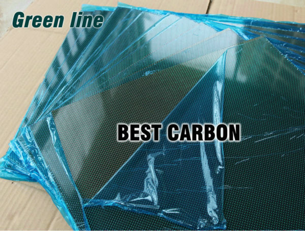 Free shipping 400mm x 500mm Green line glossy Carbon Fiber Plate, cf plate , carbon sheet ,carbon panel 1pcs 0 5mm thickness 100x250mm 200x500mm 250x250mm 400x250mm 400x500mm 500x500mm carbon fiber plate sheet glossy 3k plain weave