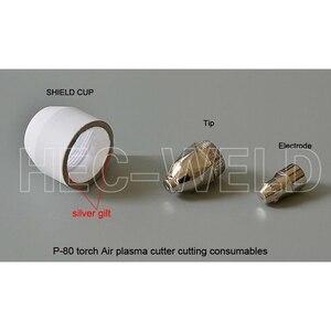 Image 2 - P80 قطع البلازما الهوائية شعلة المواد الاستهلاكية نصائح البلازما فوهات 1.5 مللي متر 100Amp أقطاب البلازما جودة قطع سكين 45PK