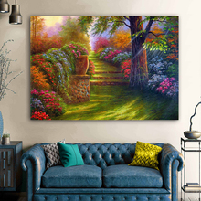 RELIABLI Landscape Painting Colorful Flower Tree Canvas Printed Art Wall Paintings For Living Room Home Decor