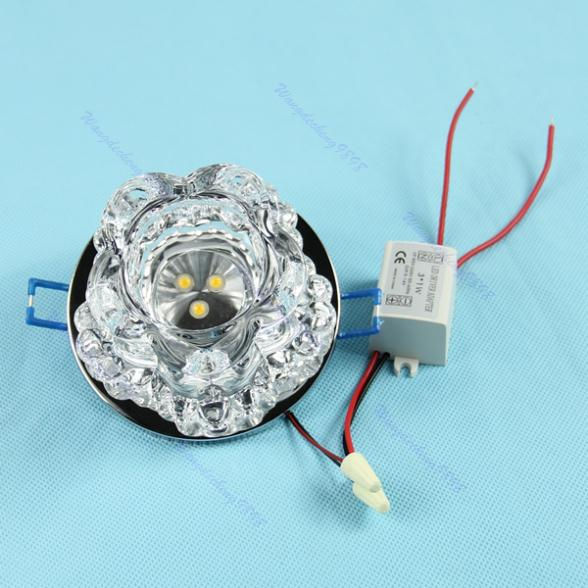 Modern Crystal 3 LED 3W Hallway Light Pendant Lamp Fixture Chandelier
