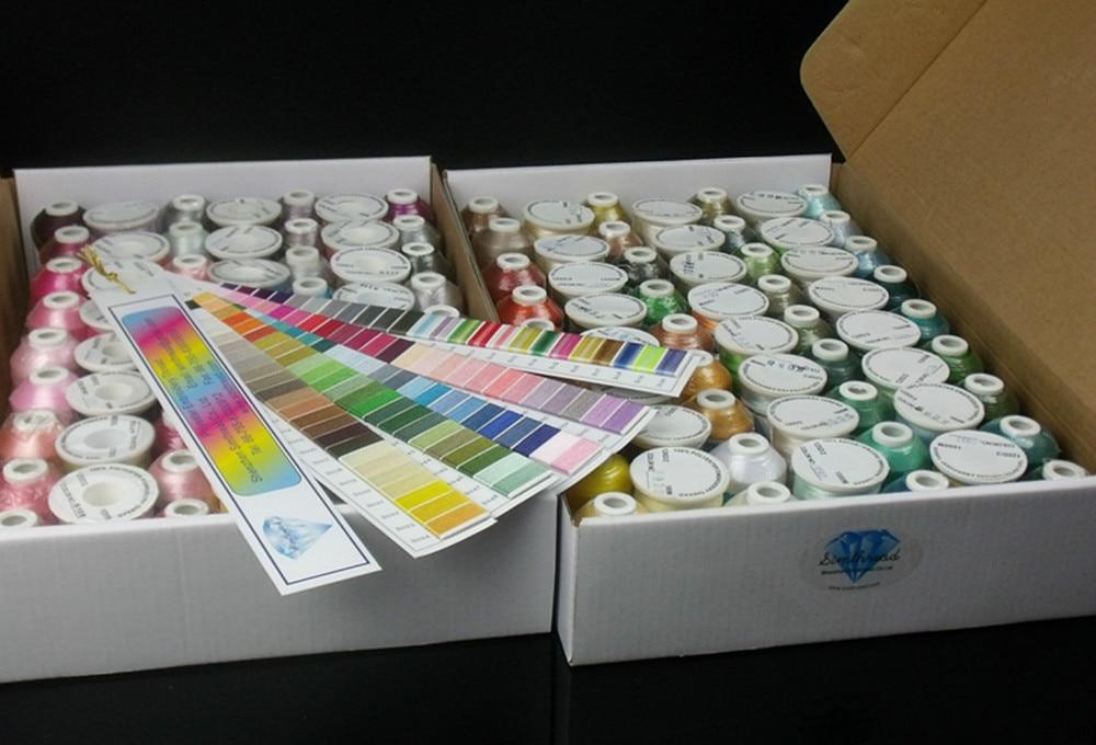 Simthread 120 Colors Computer Machine Stickgarn 100% Trilobal - Kunst, Handwerk und Nähen - Foto 2