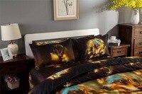3d Bedding Set Rose Animal Tiger Butterfly Bedspread Bedding Sets Linen Duvet Cover Bed Sheet 4