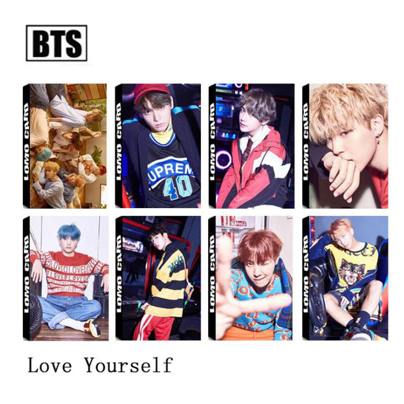 30sheets/pack Kpop Bts Bangtan Boys Love Yourself Answer Album Photo Card Paper Cards Self Made Lomo Card Photocard Stationery Carefully Selected Materials Business Cards Office & School Supplies
